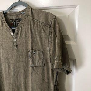 projek raw Shirts - Projek raw designer Henley style shirt L